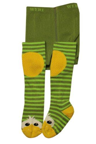Weri Spezials ABS Krabbelstrumpfhosen mit der Ente in Gruen Gr.80/86 (12-18 Monate) (Passende Baby Und Eltern Kostüm)