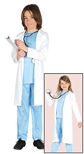 (Enter-Deal-Berlin Kinder Unisex Kostüm Chirurg Größe 95-105 cm ( 3-4 Jahre ) blau weiß)