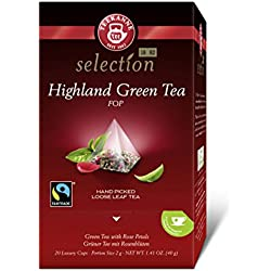 Teekanne Luxury Cup Highland Green Tea Fairtrade, 4er Pack (4 x 40 g)