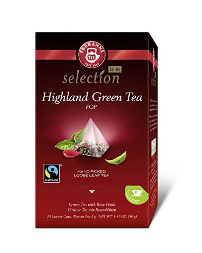 Teekanne Luxury Cup Highland Green Tea Fairtrade, 4er Pack (4 x 40 g)
