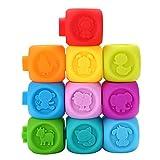 Garosa 10Pcs / Set Costruzioni educativo Infant Puzzle Competitivo Baby Kids Set da Bagno Giocattolo colorato in Morbida plastica Teether BPA Free