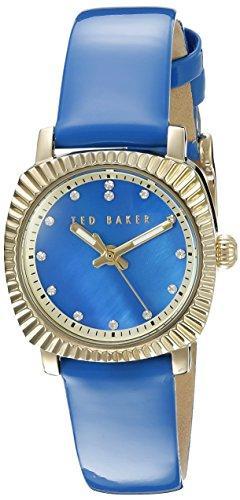 Ted Baker 10025305 - Reloj de Pulsera Mujer, Piel, Color Azul