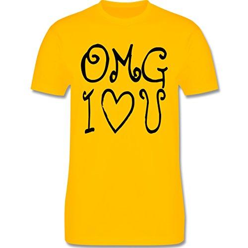 Statement Shirts - OMG I love u - Herren Premium T-Shirt Gelb