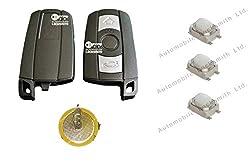 Auto Schlosser-Set - für BMW 1, 3, 5, 6, 7, E90, E92, E93, 3 Tasten, Schlüsselloser Zugang, Smart-Key, Funkgehäuse, Wiederaufladbare Batterie, Schalterersatz