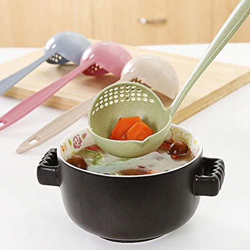 Voiks New Kitchen Hot Pot Soup Spoon Colander 2 in 1 Daily Useful Cooking Tools