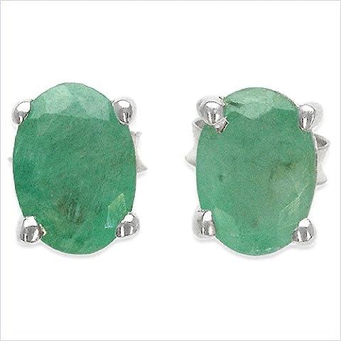 Gioielli Schmidt-Smeraldo Orecchini Argento 925 rodiato-1, 70 carati