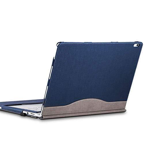 Cohokori Hülle für das Surface Book 2,Premium PU-Leder Hülle, 15 Zoll, lösbare magnetische Halterung, 2-Wege Nutzung,Blau