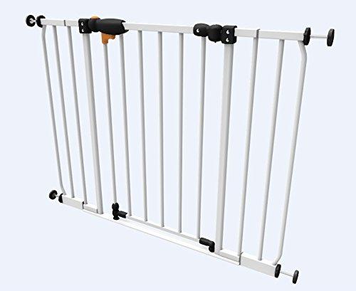 Impag Türschutzgitter Treppenschutzgitter 73 – 142 cm zum Klemmen SafeStep + 20 Weiß - 2