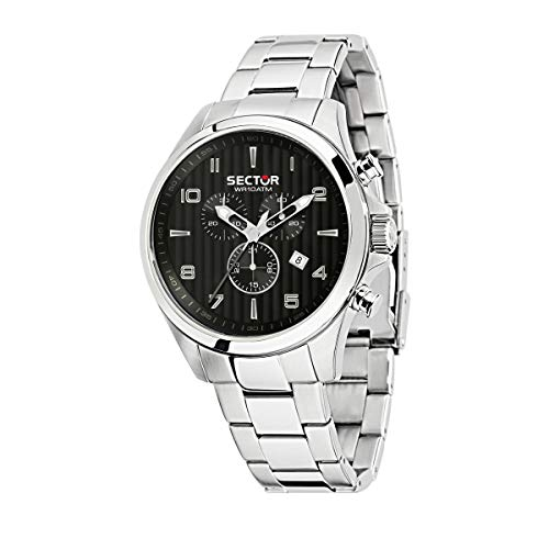 Sector No Limits Montre pour Homme, Collection Sector 180, Mouvement à Quartz, chronographe, en Acier Inoxydable - R3273690013