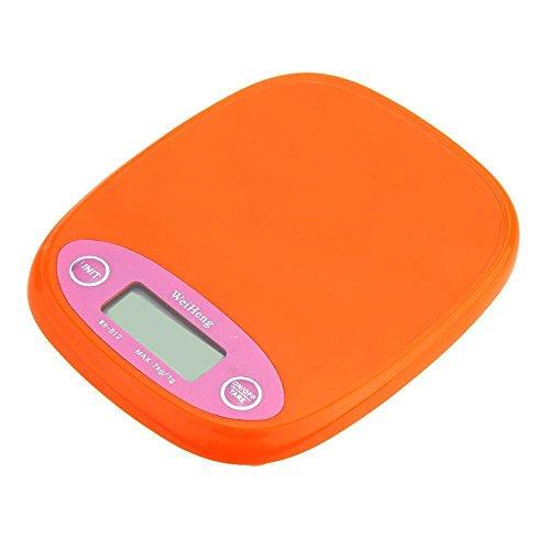Balance de cuisine Aliments Poids – Weiheng 7 kg / 1g electronique Solde Digital Pocket Cuisine Nourriture Balance orange