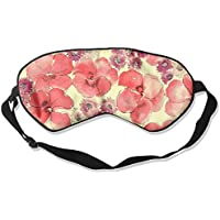Sleep Eye Mask Red Flowers Lightweight Soft Blindfold Adjustable Head Strap Eyeshade Travel Eyepatch E4 preisvergleich bei billige-tabletten.eu