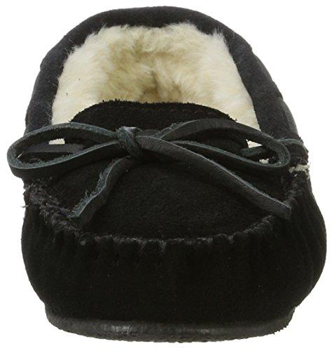Minnetonka 4010 Cally Slipper, Damen Hausschuhe Schwarz (Black)