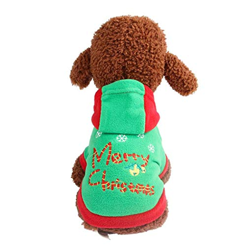 Providethebest Winter Hund Kleidung Warmer Weihnachtswelpe Hoodied Mantel -