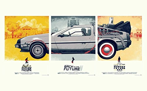 Back To The Future (22x14 inch, 56x35 cm) Silk Poster Seta Manifesto PJ14-4D8B