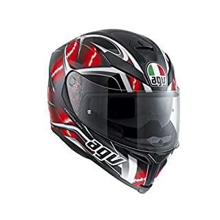 AGV 0041A2HY_001_ML K-5 S E2205 Multi Helm, hurricane Black/Red/White, Größe ML