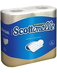 Scottonelle Carta Igienica, Soffice e Trapuntata - 4 Rotoli