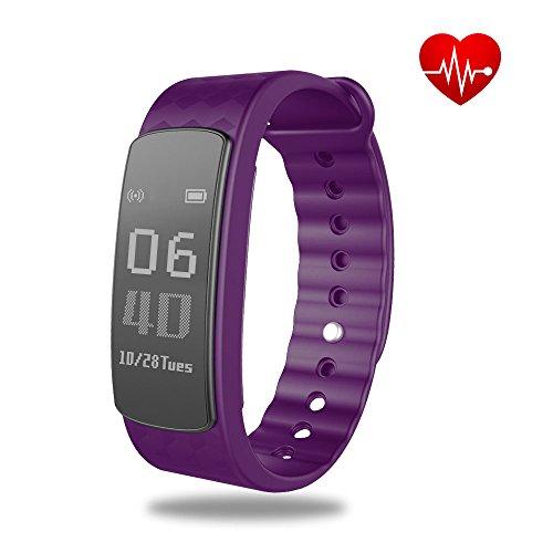 Fitness Tracker Schrittzähler shonco Wasserdicht Bluetooth Aktivität Tracker Smart Sport Band Armband mit Touchscreen Kalorien Zähler Gesundheit Schlaf Monitor für iPhone Android Phones