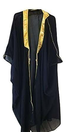 Desert Dress Black Bisht Cloak Arab Dress Thobe Saudi Mens Robe Eid Coat Mishlah Sheikh Royalty Omani Dubai (Black)