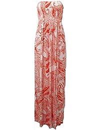 Nouveau femmes tonte recueillir boobtube bandeau dames bustier longue d'été maxi robe plus la taille toute couleur 44-50 XL / XXL