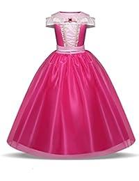 Disfraz de princesa Aurora para niñas de 3 a 10 años, color rosa fuerte