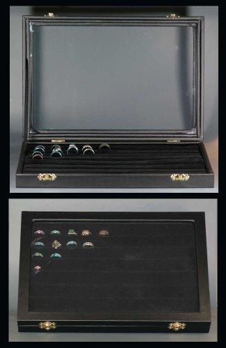 accumulazione Cassa dell'anello anello presentazione gioielli stoccaggio cassetto di titolare modello visualizzazione box monili vassoio espositore porta dei scrigno WIESBADEN portagioie