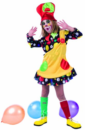 Limit Sport MI619 G.2 - Costume da clown per bambine, a pois, 3 pezzi (camicia, cappello, pettorina) - Lima Cappello
