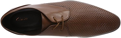 Clarks Bampton Weave, Scarpe Stringate Derby Uomo Marrone (Tan Leather)