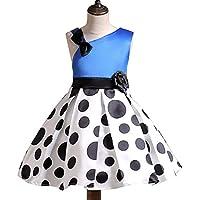 KOKQSX-Girls'dresses New Kids' Vestidos Faldas Moda Princesa Azul 120cm