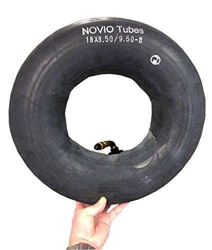 Preisvergleich Produktbild Schlauch 18 x 8.50-8/9.50-8 passend für Reifen Aufsitzmäher Rasenmäher, Winkelventil 90° Grad