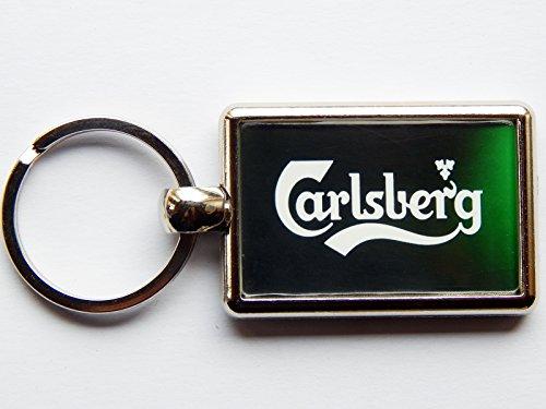 carlsberg-label-trinken-alkohol-bier-chrom-schlusselanhanger-bild-auf-beiden-seiten