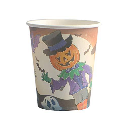 rikatur-Halloween-Kürbis-Mann-Hexe-Muster Wegwerfpapierschale für Cosplay Tanzen-Partei ()