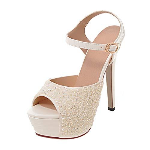 Coolulu Mujer Glitter Sandalias Plataformas Zapatos
