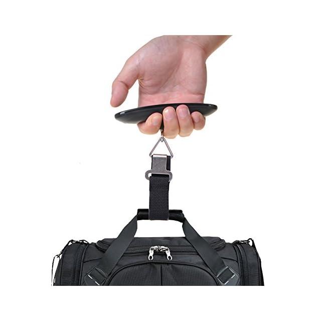 E-PRANCE Pèse Bagage Electronique / balance de voyage / bagages électronique /Balance numérique Portable/ Balance suspendue Max 50 KG/ 110 lb pour Bagages / Voyage / Poste / shopping / Extérieur / Usage domestique (Noir)