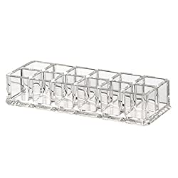 PIXNOR Makeup Lipstick Display Stand Holder - Clear Acrylic