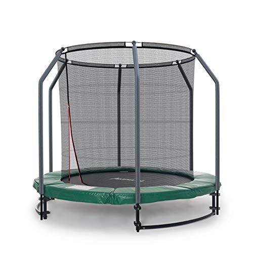 Ampel 24 - Trampoline de Jardin Deluxe Ground avec Filet de sécurité/diamètre 2,44m / résistant jusqu'à 35 kg / 6 piquets