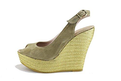 RAS 39 EU sandali zeppe donna beige camoscio AG464