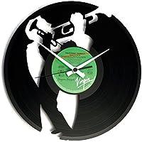 DISCOCLOCK   DOC035   JAZZ   Wanduhr Aus Vinyl Schallplattenuhr Mit  Trompete Jazz Musiker Motiv