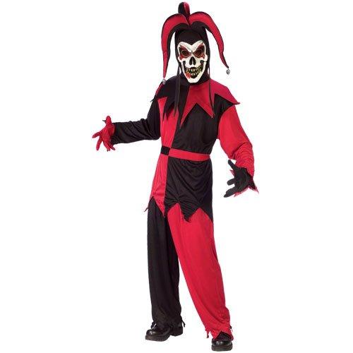 Hofnarr Kostüm Böser - Männer Kostüm Böser Hofnarr, Größe M, rot/schwarz