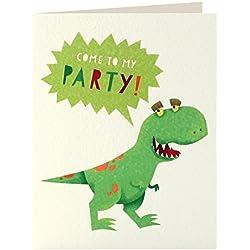 """James Ellis papelería Mini """"DINOSAURIO de los niños de fiesta"""" invitación tarjeta (Pack de 5)"""