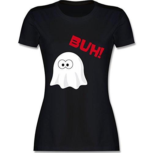 Halloween - Kleiner Geist Buh süß - S - Schwarz - L191 - tailliertes Premium T-Shirt mit Rundhalsausschnitt für (S Halloween Geist)