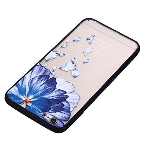 iPhone 6S Hülle, Voguecase Silikon Schutzhülle / Case / Cover / Hülle / TPU Gel Skin für Apple iPhone 6/6S 4.7(Große Pink Blume 01) + Gratis Universal Eingabestift Blaue Blumen 13