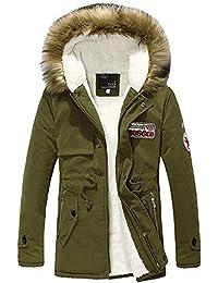 FuweiEncore Cappotto da Uomo Parka Cappotto Militare con Cappuccio in  Pelliccia Outwear Caldo Giacche (Colore 7a39ca8f89e