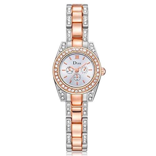 Fittingran Orologio da polso da donna impermeabile orologio da polso analogico al quarzo analogico da polso analogico da polso da donna (Oro)