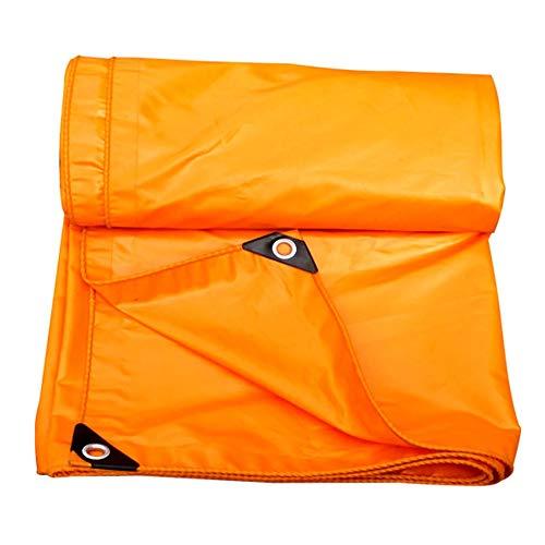 ZEMIN Plane Gewebeplane Abdeckplane Wasserdicht Sonnencreme Zelt Blatt Dach Stoff Beidseitig Verdicken Polyester, Gelb, 420G / M², 16 Größen Verfügbar (Farbe : Gelb, größe : 2X2M)