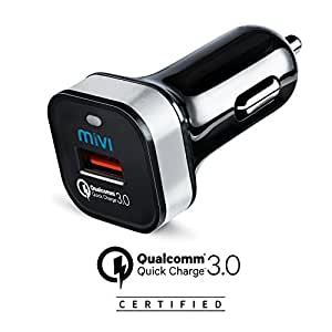 Mivi Qualcomm Certified Quick Charge 3.0 Car Charger for Smartphones