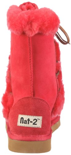 Nat-2 SHEEP Damen Fashion Stiefel Rot (Red)