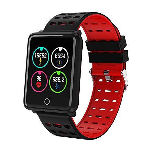 Oasics F3 Smartwatch Wasserdicht IP68 Smart Watch Uhr mit Pulsmesser Fitness Tracker Sport Uhr Fitness Uhr mit Schrittzähler, Smart Bracelet Heart Rate Monitor Blood Pressure Fitness (rot)