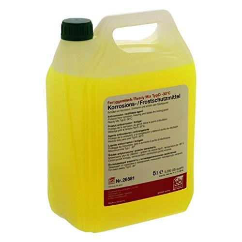 febi bilstein 26581 Frostschutzmittel für Kühler (grün) 5 Liter (Fertiggemisch -30°C)