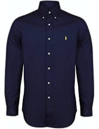 593365b0 Ralph Lauren Polo Men's Custom Fit Poplin Shirt White Navy Black S - XXL