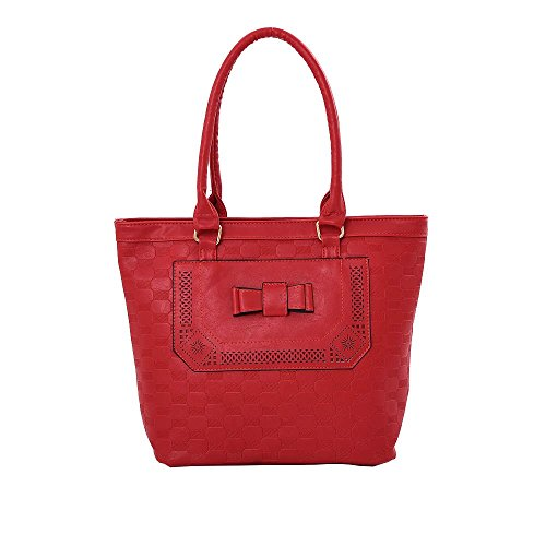 Hautefordiva , Damen Tote-Tasche beige L rot